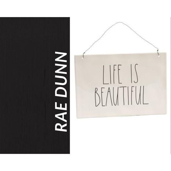 Rae Dunn Other - NWT Rae Dunn LIFE IS BEAUTIFUL Wall Plaque